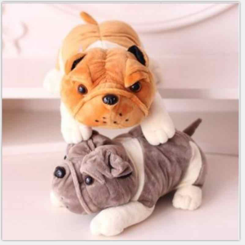 1 шт. 20 см Бульдог Собака Шарпей плюшевые игрушки, мягкая кукла, Наивысшее качество низкая цена, лучший подарок для ребенка на Рождество, лидер продаж детские игрушки