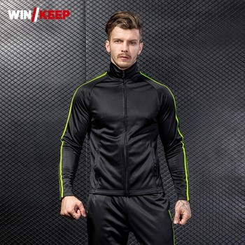 Fleece Liner Sports Outwear Coat Full Length Sweatpants Tracksuit