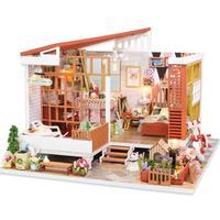 DIY Dollhouse Dreamlike House Fairy Tale Style Chalet DIY Dollhouse Like The Home Without Dustproof Cover