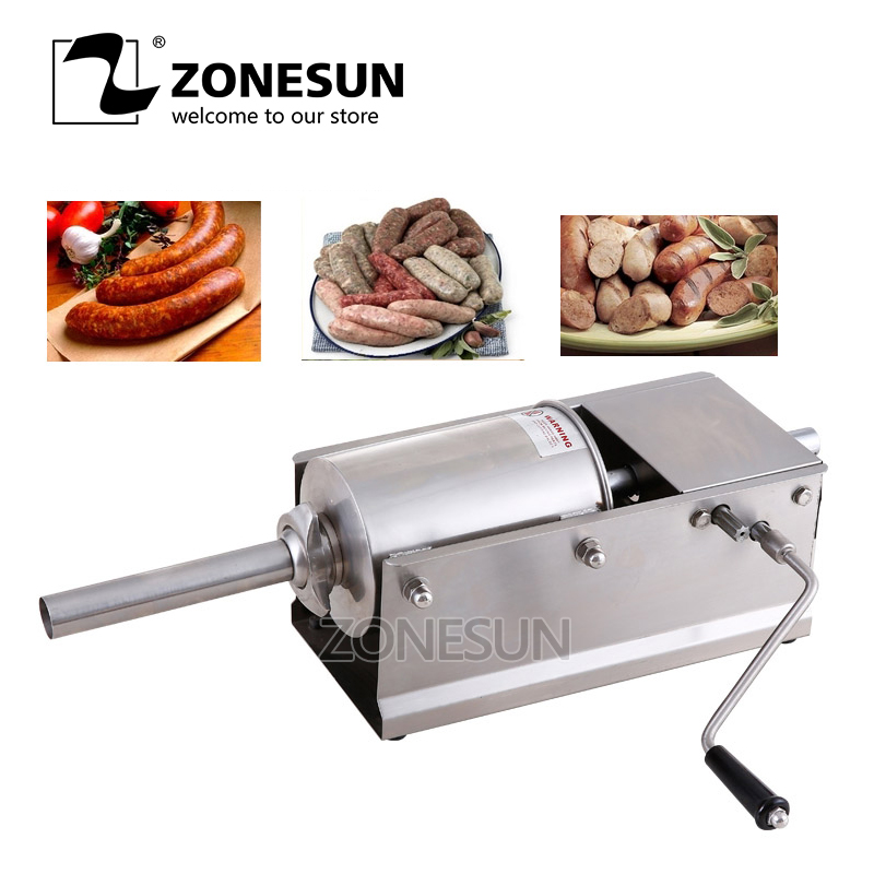 ZONESUN Manual Sausage Meat Fillers Machine Food Maker Hand Operated Sausage Machines for Sausage Meat PoultryZONESUN Manual Sausage Meat Fillers Machine Food Maker Hand Operated Sausage Machines for Sausage Meat Poultry