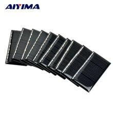 AIYIMA 10Pcs Solar Panels Polycrystalline Solar Panels 57x28MM 5V 40MA DIY Solar Battery Charger Painel Solars