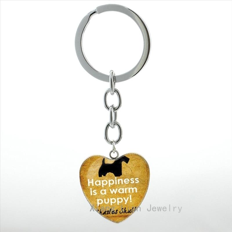Винтаж собака Силуэт Прайнтс искусстве кулон сердце брелки любителей собак брелок лучший друг идея подарка Рождество hp242 ...