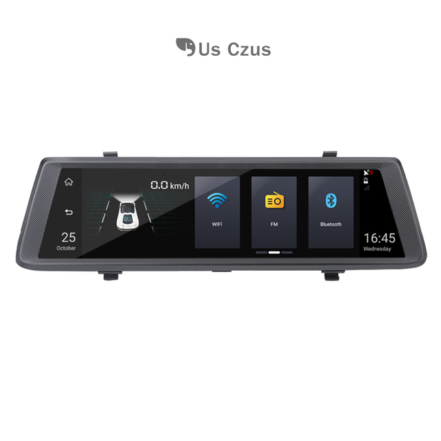 4G car DVR Android DUSH camera  GPS Navigator 10 inch Dual lens dash cam and WIFI rear view frame
