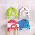 Кухня присоски ленточный Крюк стойка для хранения губок всасывания стены пластиковая кухонная раковина разное крюк 4 цвета - фото