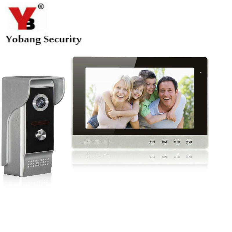 YobangSecurity 10 Inch LCD Video Doorbell Door Phone Entry Intercom Camera Monitor Security System Kit with 1 Camera 1 Monitor yobangsecurity video door intercom entry system 2 4g 9 tft wireless video door phone doorbell home security 1 camera 2 monitor