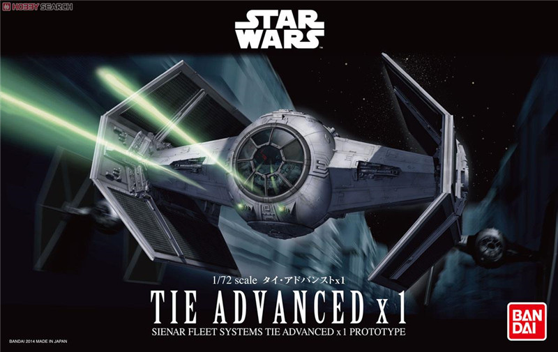 Free Shipping 2015 New Genuine Bandai 1:72 Scale Star Wars Tie Advanced X 1  Plastic Model Building Kits DIY Toys 2015 new genuine bandai 1 48 scale star wars snow speeder modified incom t 47 airspeeder plastic model building kits diy toys