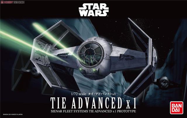 Frete grátis 2015 New Genuine Bandai 1 : 72 escala Star Wars Tie avançado X 1 Plastic Model Building Kits DIY brinquedos