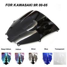 купить ABS Windscreen For Kawasaki Ninja ZX9R ZX-9R 2000 2001 2002 2003 2004 2005 Motorcycle Windshield Iridium Wind Deflectors по цене 624.61 рублей