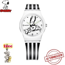 Genuine snoopy kids watches fashion women watch men cute casual Quartz Wristwatches rubber Water Resistant snw774