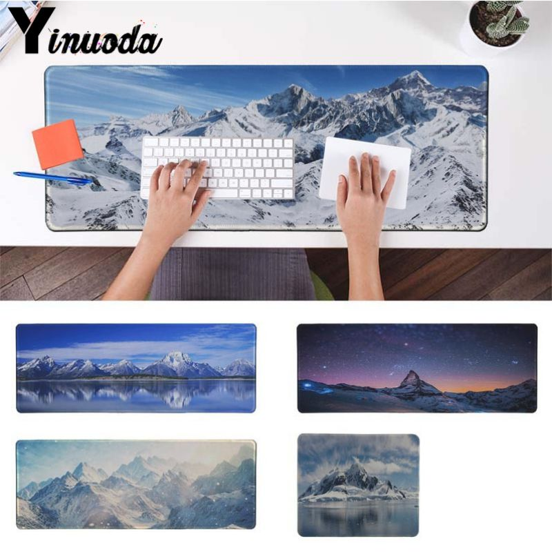 Yinuoda Your Own Mats Fashion Snowy Mountain Clouds Sea Large Mouse pad PC Computer mat Size for 18x22cm 30x90cm 40x90cm