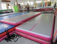 5x1x0.1m Inflatable Gymnastics Mat Inflatable Air Track Tumbling Mat Gym for Gymnastics Air Floor Mat for Home Picni Exercise