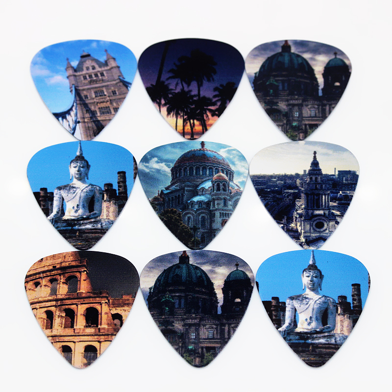 Luggage & Bags Acoustic Guitar Paddle/ Ukulele Parts Straightforward Soach 50pcs Bass Guitar Pick Monuments Plucked Instrumento Accessories Guitarra