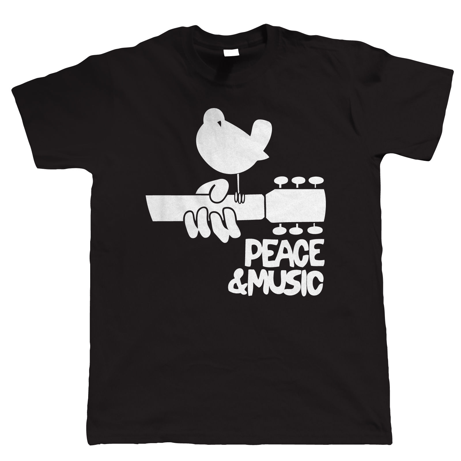Woodstock Music Festival Mens Guitar T Shirt, Gift for Dad Him New Shirts Funny Tops Tee Unisex free shipping