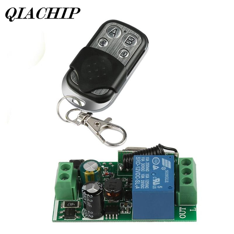 433Mhz AC 85V~250V 110V 220V 1CH Wireless Relay RF Remote Control Switch Heterodyne Receiver Module DC 12V Transmitter DS35 new 1ch 7v 12v 24v dc relay module switch wifi rf 433mhz wireless remote control timer switches for light work by phone