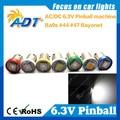 Free Shipping Super Brightness 100Pcs Ba9s #44 #47 Bayonet LED 6.3V Pinball led Non Ghost White For Stern Pinball Game Machine
