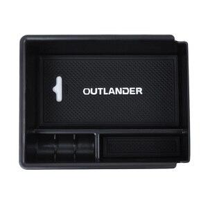 Image 5 - Car Styling Car Central armrest box storage box decoration for Mitsubishi Outlander 2013 2014 2015 2016 2017 2018 2019