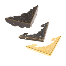 12Pcs Iron Book Scrapbooking Albums Corner Bracket Antique Brass/Gold Decorative Protectors Crafts For Furniture Hardware