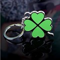 Delicate four leaf clover love lovers gift keychain lucky grass logo