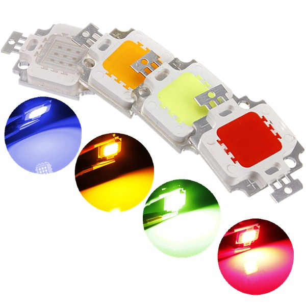 Multicolor 10W High Power Integrated LED lamp Chips SMD Bulb For Floodlight Spot light Red/Green/Blue/Yellow
