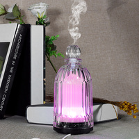 Fimei 120ml Air Humidifier Essential Oil Diffuser Aroma Lamp Aromatherapy Electric Glass Aroma Diffuser LED Night