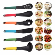 6 Pcs Gadget Nylon Slotted Spatula Spoon Cooking Cookware Utensils Tool Kitchen