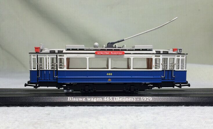 Out of print rare Fine 1:87 Atlas 1929-BLAUWE wagen 465 Swiss city tram model Collection model Holiday gifts angel fairy model ornaments out of print