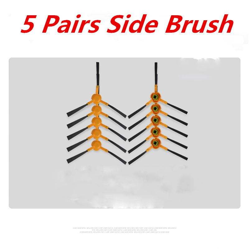 цены 5 Pairs Side Brush (5 R+5 L) For Ecovacs Deebot DD35 DG710 DT85 DT83 DM81 DM85 DT85G Vacuum Cleaner Parts accessory replacement