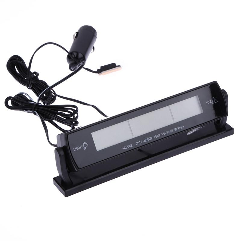 3 i 1 Multi Function Car Digital Auto Termometer Voltmeter Alarm - Reservdelar och bildelar - Foto 2