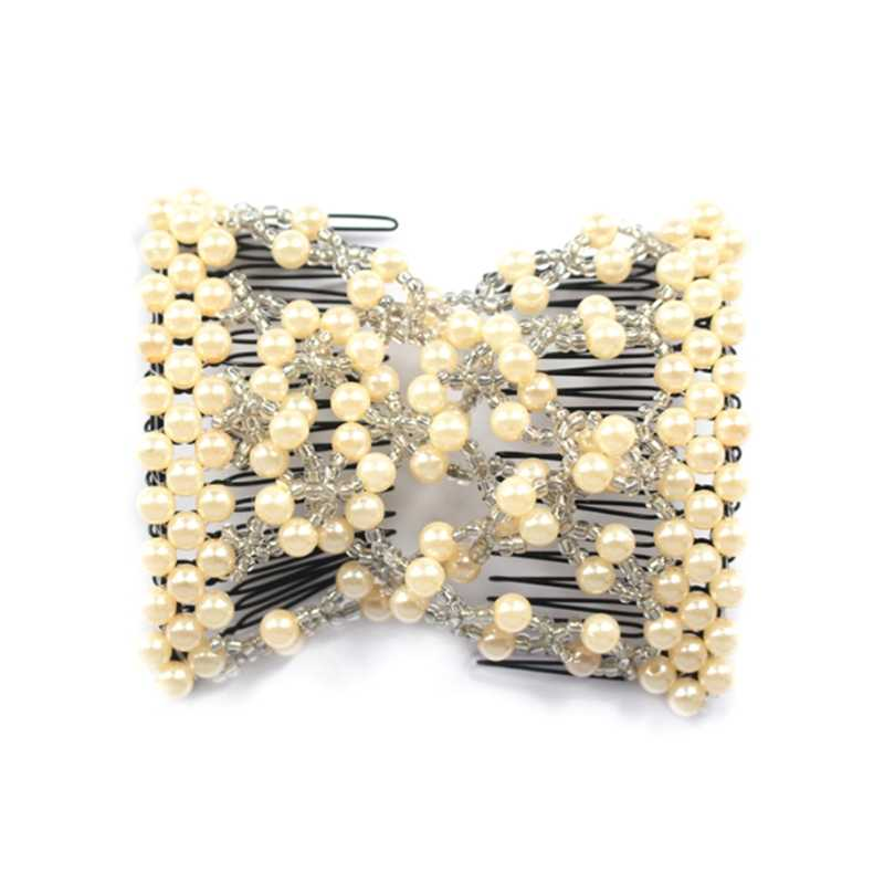 1pc Magic Elastic Hair Comb Beauty Decoration Comb Stretchy