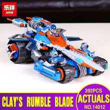 LEPIN 14012 Nexo Knights Clay s Rumble Blade Axl Combination Marvel Building Blocks Kits Toys Compatible