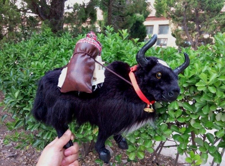 ФОТО large 30x28cm simulation black yak toy lifelike yak model decoration birthday gift t123