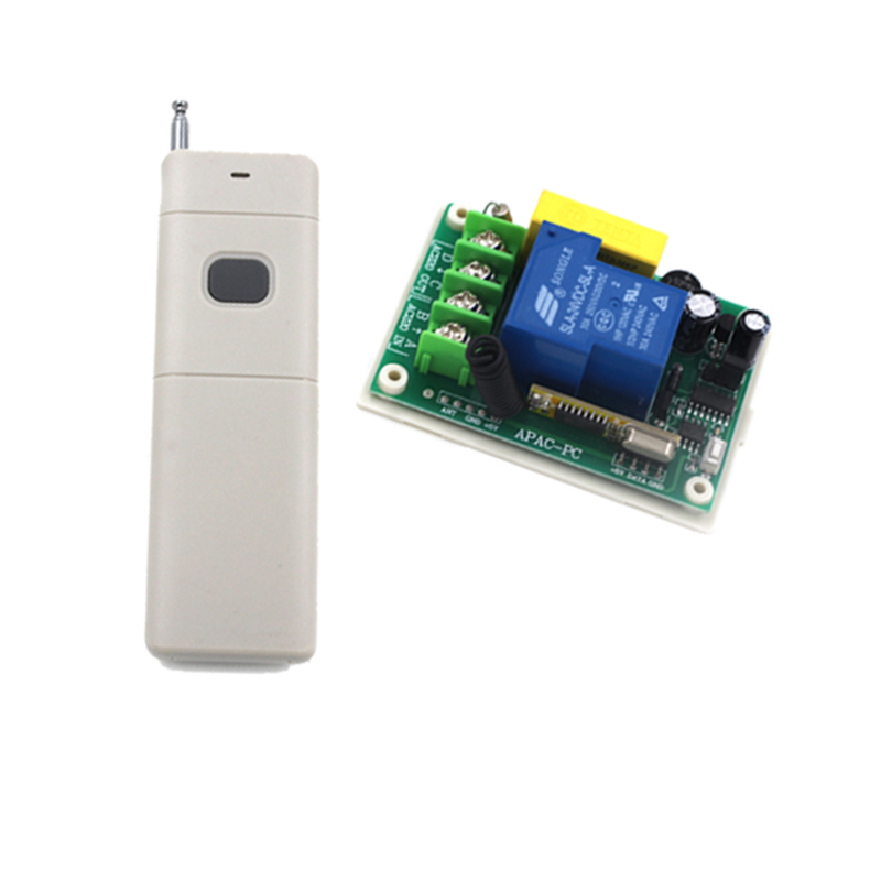 AC 220V 30A Relay Receiver Remote Control Switch 315/433mhz learning code Receiver Light Lamp LED Smart Control 4168