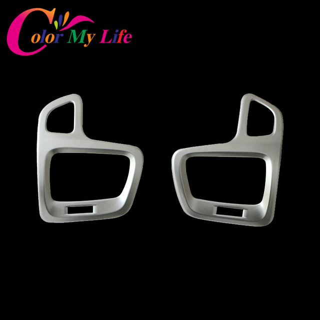 2Pcs/Set ABS Chrome Car Air Vent Protective Cover Air Conditioner Outlet Trim Sticker for Jeep Compass 2017 2018 Accessories