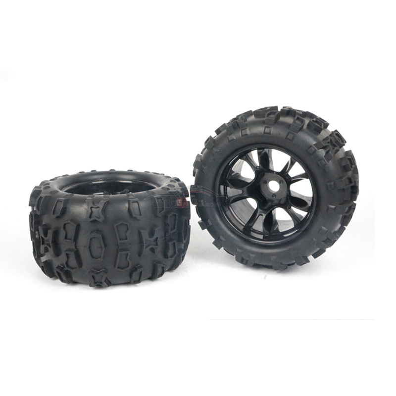 2PCS or 4PCS DHK 8382-704 8382/8384 East Hongkai accessories general 1/8 monster truck rubber tires - viscose free shipping конфетница rosenberg 8384 w
