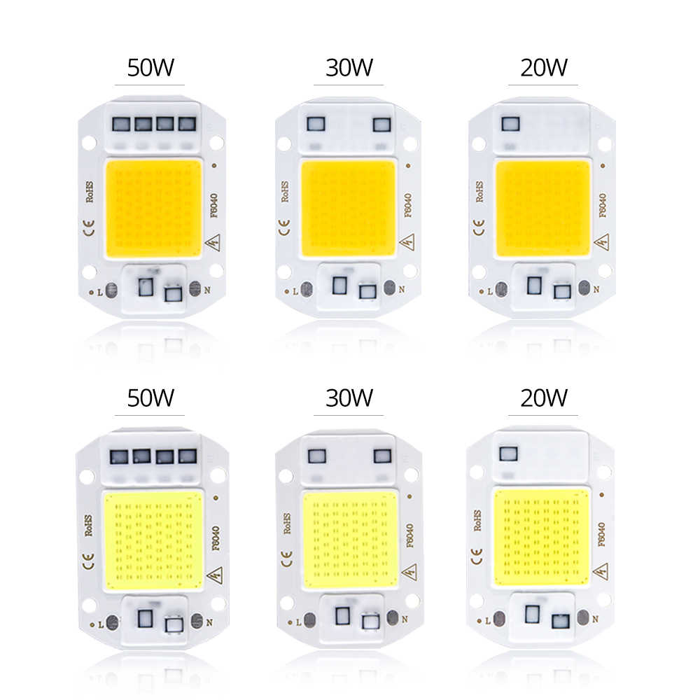 High Power LED Matrix For Projectors COB LED Lamp Chip 50W 30W 20W 110V 220V DIY LED Bulb Flood Light Diode Spotlight Outdoor