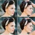Женщины Девушки Свадебные Серебряный Кристалл Rhinestone Diamante Цветок Зажим Для Волос Гребень Контактный Одежда Аксессуары Головные Уборы Волосы Комбс