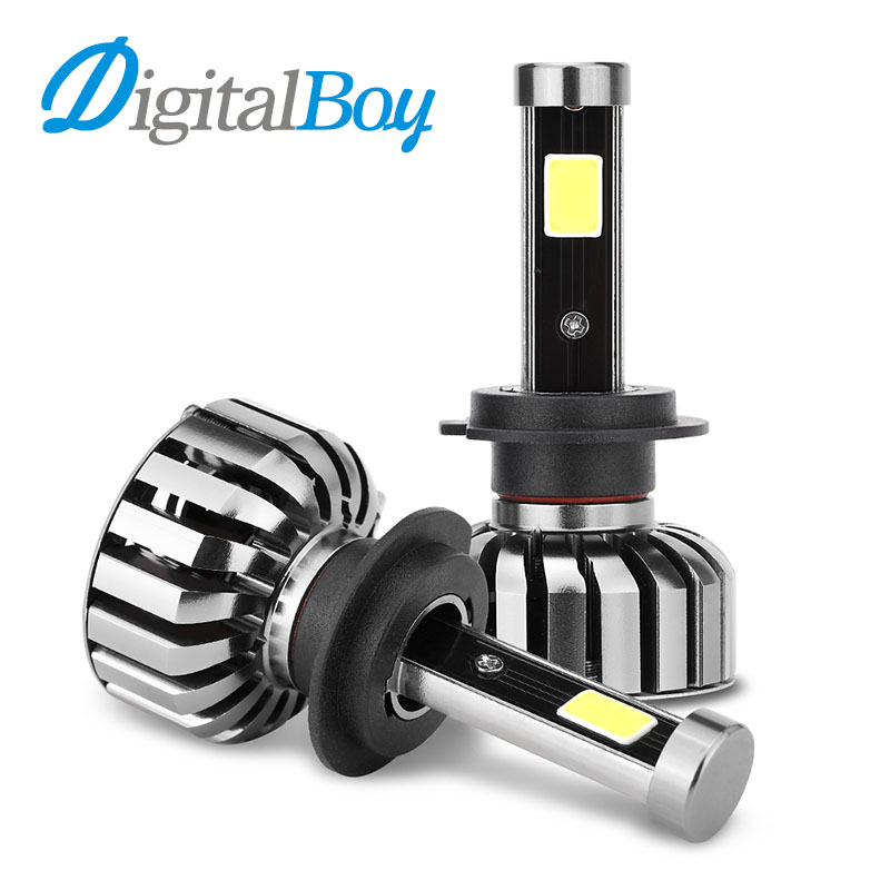 DIGITALBOY H7 LED Headlights Car Front Bulb 80W 8000LM LED Headlight All in one Headlamp Automobile Fog Light Car Front Lighting
