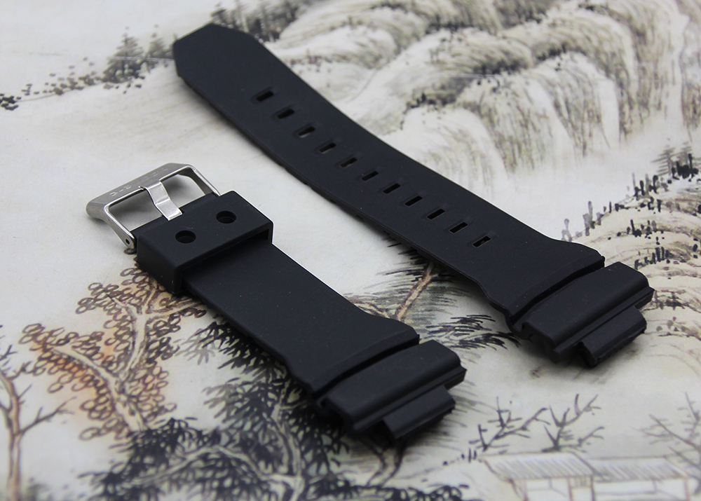 Replacement Watchband Black Silicone Rubber bracelet for font b Casio b font G 150 font b