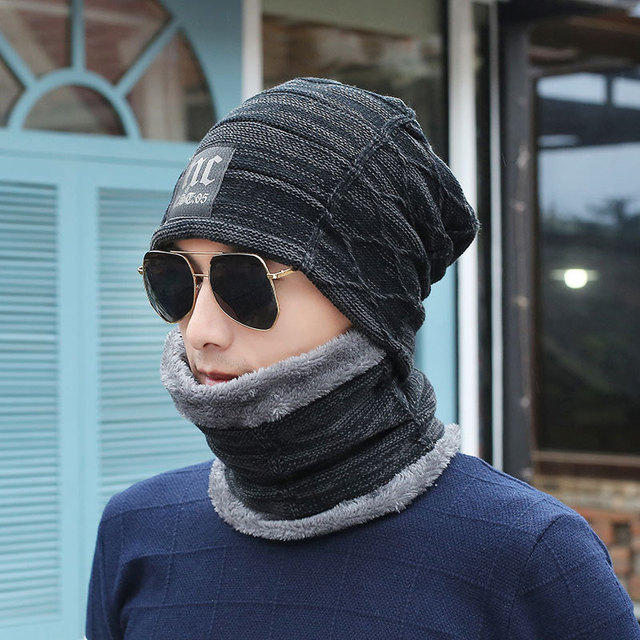 Winter Hat Skullies Beanies Men Women Knitted hat Scarf Winter Cap Mask  Balaclava Bonnet Cap Wool bb2527b27137