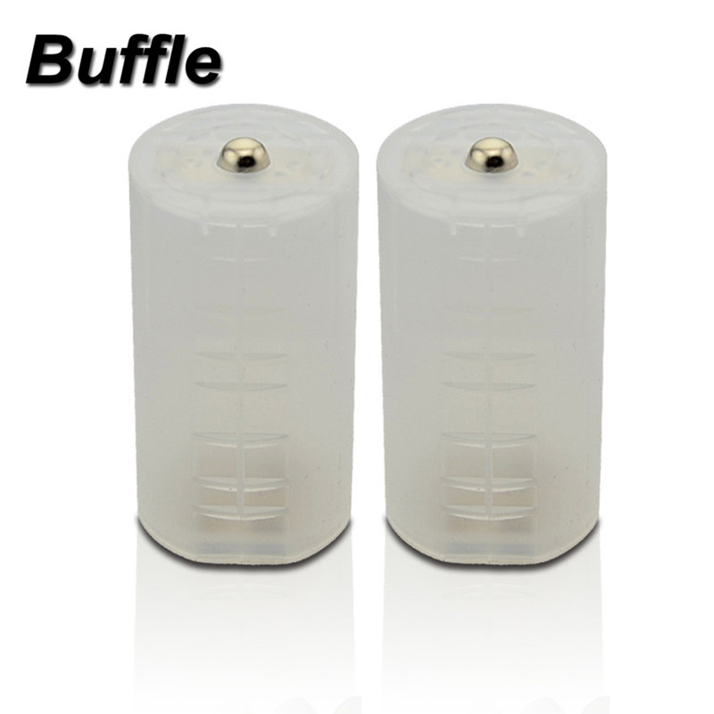 2x Buffle AA to <font><b>D</b></font> Size <font><b>Battery</b></font> Converters Holder Conversion <font><b>Adapter</b></font> Switch Case for Ni-MH Pre-Charged Rechargeable <font><b>Batteries</b></font> image