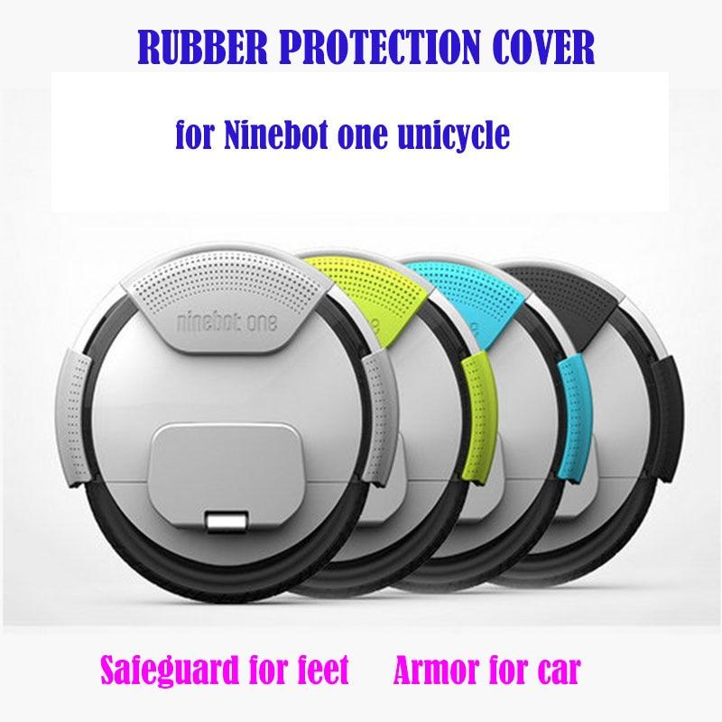 Kit Capa Protetora de borracha para Ninebot um S2/A1 feetpain apaziguador macias prodector monociclo scooter proteção armadura