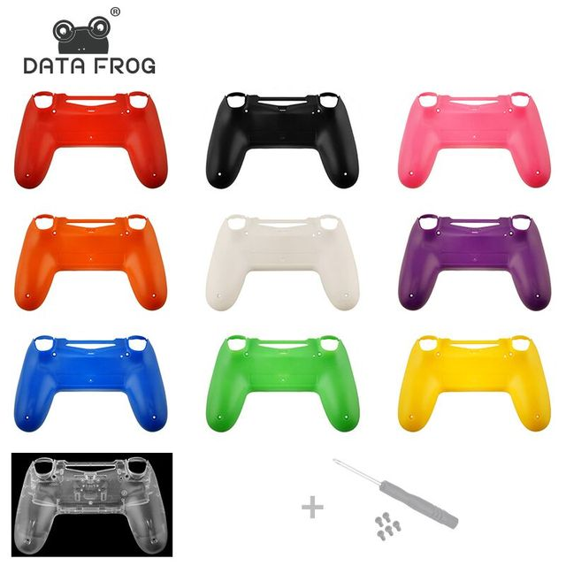 For PS4 Replacement back shell Matte Faceplate case repair for PS4 Old Version Controller jds 010 Housing Cover Case