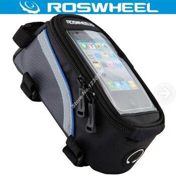 Roswheel ホット販売自転車アクセサリーサイクリング自転車フレームフロントチューブタッチスクリーンバッグパニアポストサイクリングホルダー携帯電話