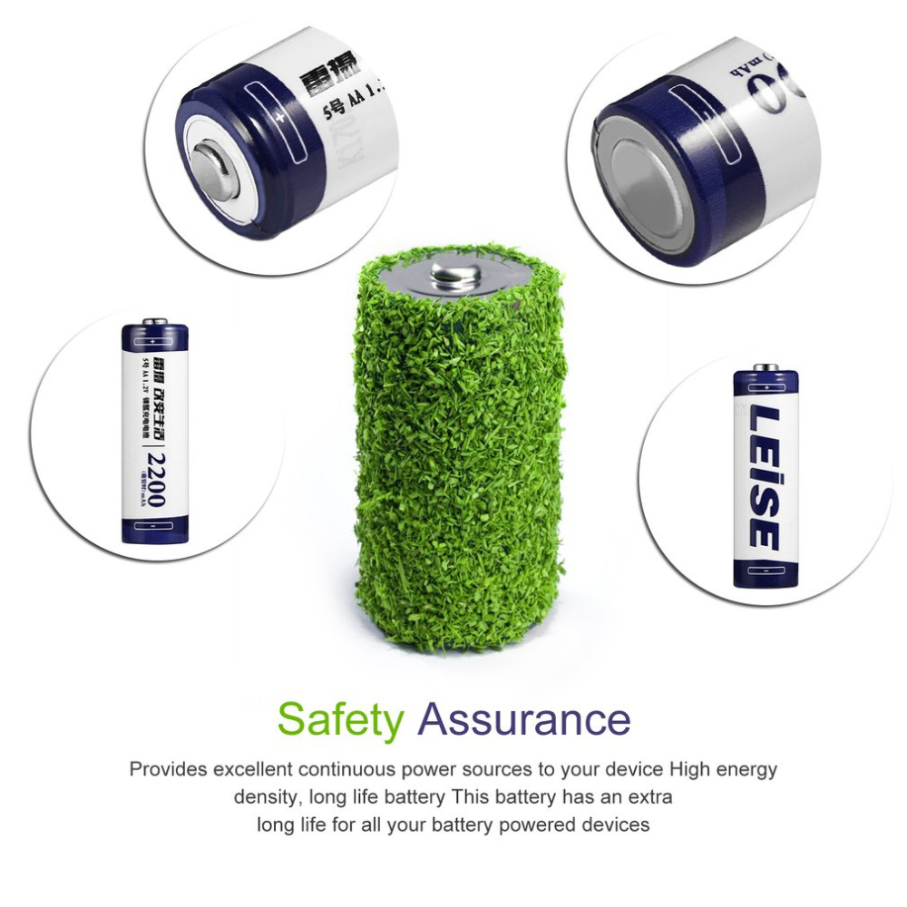 Leise 8pcs/2card AA Rechargeable Battery 1.2V 2200mAh NiMH Rechargeable Batteries Ni-MH 2A Pre-charged Bateria for Camera