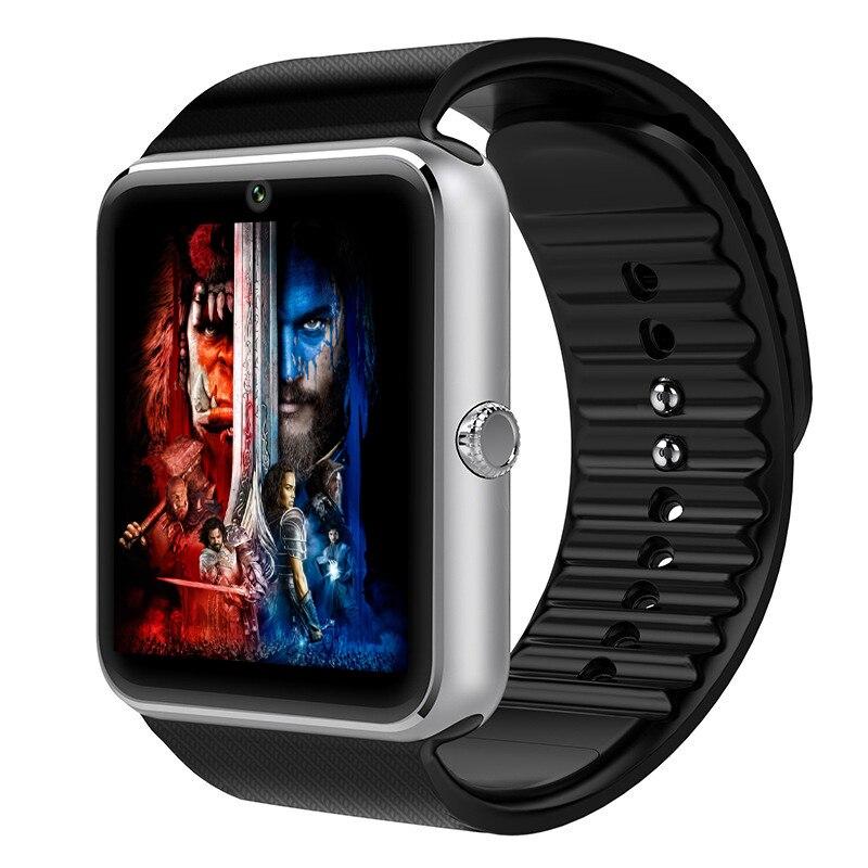 imágenes para Sincronización de reloj smart watch gt08 notificador tarjeta sim soporte de conectividad bluetooth para iphone android teléfono smartwatch pk gv18