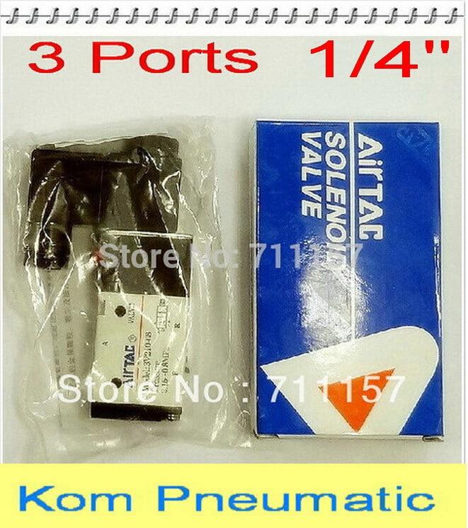 Gewidmet 10 Teile/los Fedex Geben Verschiffen 3 Way 1/4 bsp 1/4 Zoll Pneumatische Magnetventil 3v210-08 12 V 24 V 110 V 220 V Dc Ac Ventil Heimwerker