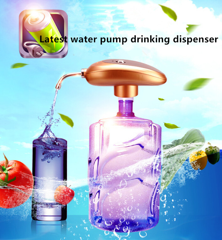 2016 Latest Wireless portable electric water bottle pump drinking dispenser with Rechargeable Battery Water Bottles Suction Unit 2016 latest explosion proof electric hot water bottle charging warm bao bao shuang electric double plush6002