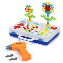Kids Building Games Set Desigh & Drill Educational Blocks 237 Pcs+ Mosaic Design Toys with Real
