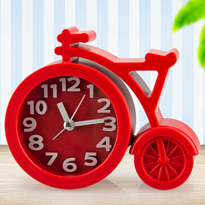 Mini Mute children student clock bicycle Desk Table Alarm Clocks Candy colors #20/8