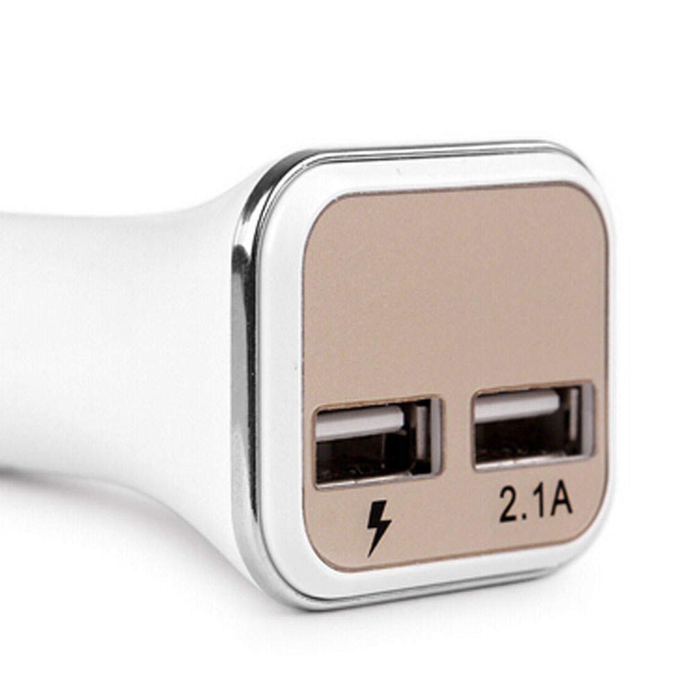 Individual Car Charger dual USB Excellent Colorful Aluminum Ring Beautiful Stylish Faddish Modern